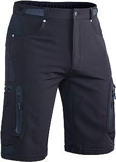 Hiauspor Men's Mountain Bike Shorts Stretch MTB Shorts Quick Dry with Zipper Pocket