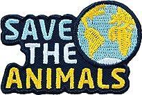 2 x Tierschutz Patch5,9 x 3,9 cm Motiv Save the Animals von club of heroes