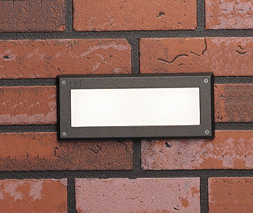 Kichler  15774AZT LED Brick Light Low Voltage Deck and Patio Light without Louvers, Textured Architectural Bronze with Heat-Resistant Glass