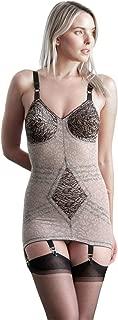 Women's Extra Firm Open Bottom Body Shaper, Mocha/Black, 36C