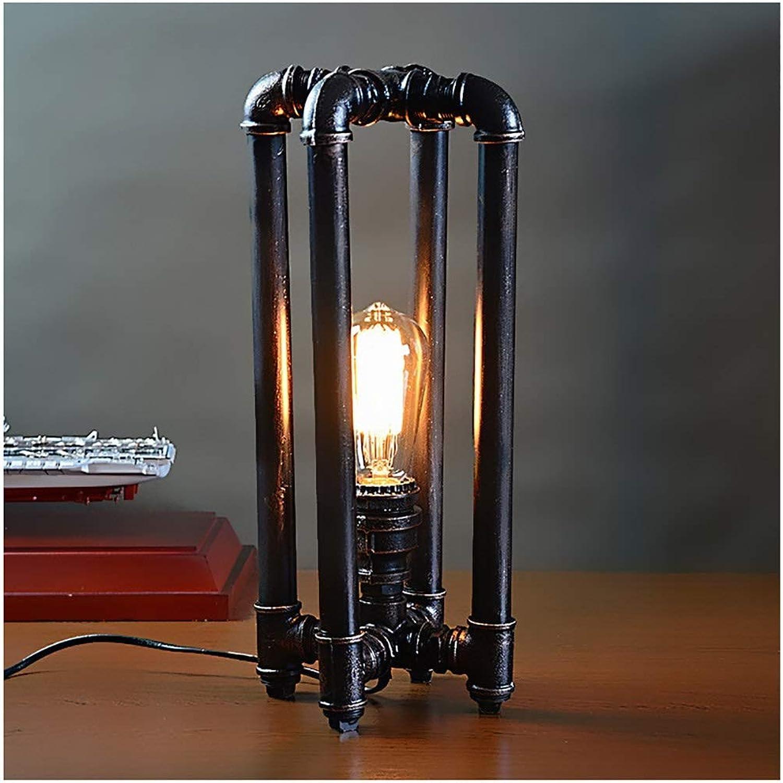 QTDH DIY Schreibtischlampe - Retro Mechanische Schreibtischlampe - Kreativer Roboter Eisenwasserleitung Tischlampe - Study Office Nachttischlampe