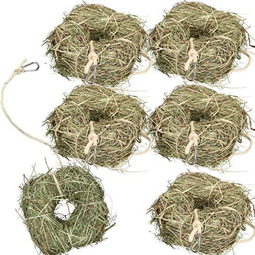 AB Tools Rosewood 6Pk Small Animal Boredom Breaker Treat Rabbit Guinea Natural Alfalfa Hay Ring