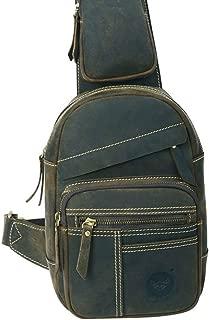 Men's bag Fashian Genuine Leather Chest Bag Leisure Crossbody Bag Small Travel Bag Crossbody Bag Carry Bag (Color : Turquoise)