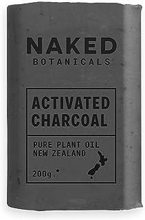 Naked Botanicals Activated Charcoal Soap - 200g Single Bar