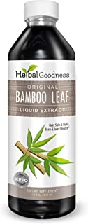 Bamboo Leaf Extract Liquid - 70% Natural Silica - Vegan Collagen Superfood Dietary Fiber for Hair, Skin, Nail & Joint Heal...