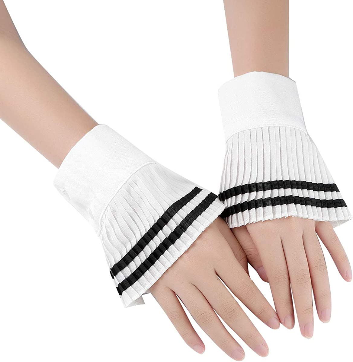 Zaldita Women Girl Fake False Sleeve Cuffs Flared Peplum Bell Wrist Cuffs Bracelets Sweater Decoration Clothing Accessories