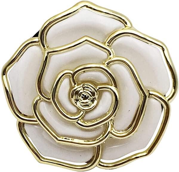 LALANG Rose Flower Shape Folding Bag Hanger Purse Table Hook Hang Holder White