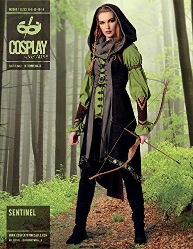 Cosplay von McCall 's Sentinel Tunika/Weste/Kapuze Und Armschienen, Mehrfarbig, Größen 14–22