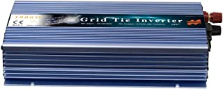 Marsrock 1000W On Grid Micro Solar Inverter Converter, 20-50VDC to 90-140VAC MPPT Pure Sine Wave Inverter for 1200W 30V, 36V Solar Module System (Blue-110V AC)