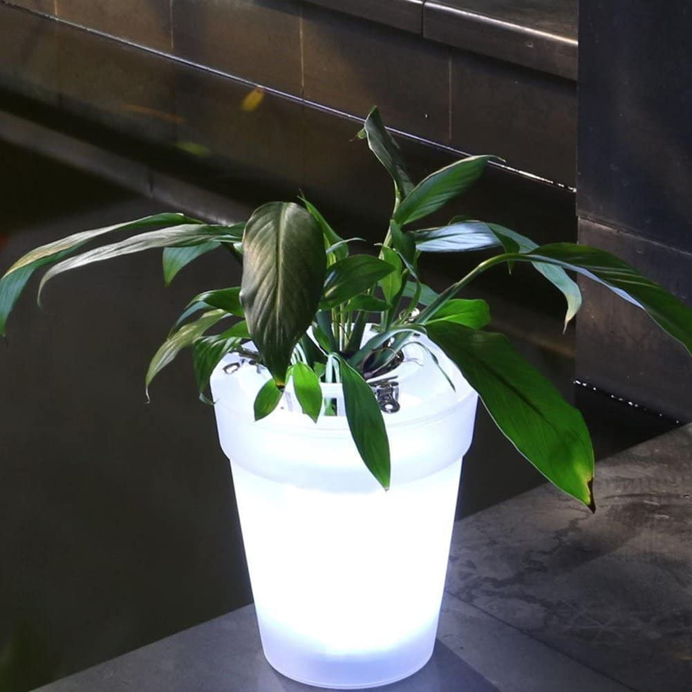 Amazon.com  LED Plant Pot,Solar Power Flowerpot Illuminated ...