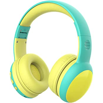 gorsun Bluetooth Kids Headphones with 85dB Limited Volume, Children's Wireless Bluetooth Headphones, Foldable Bluetooth Stereo Over-Ear Kids headsets - Green