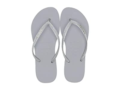 Havaianas Slim Glitter Sandal (Steel Grey) Women