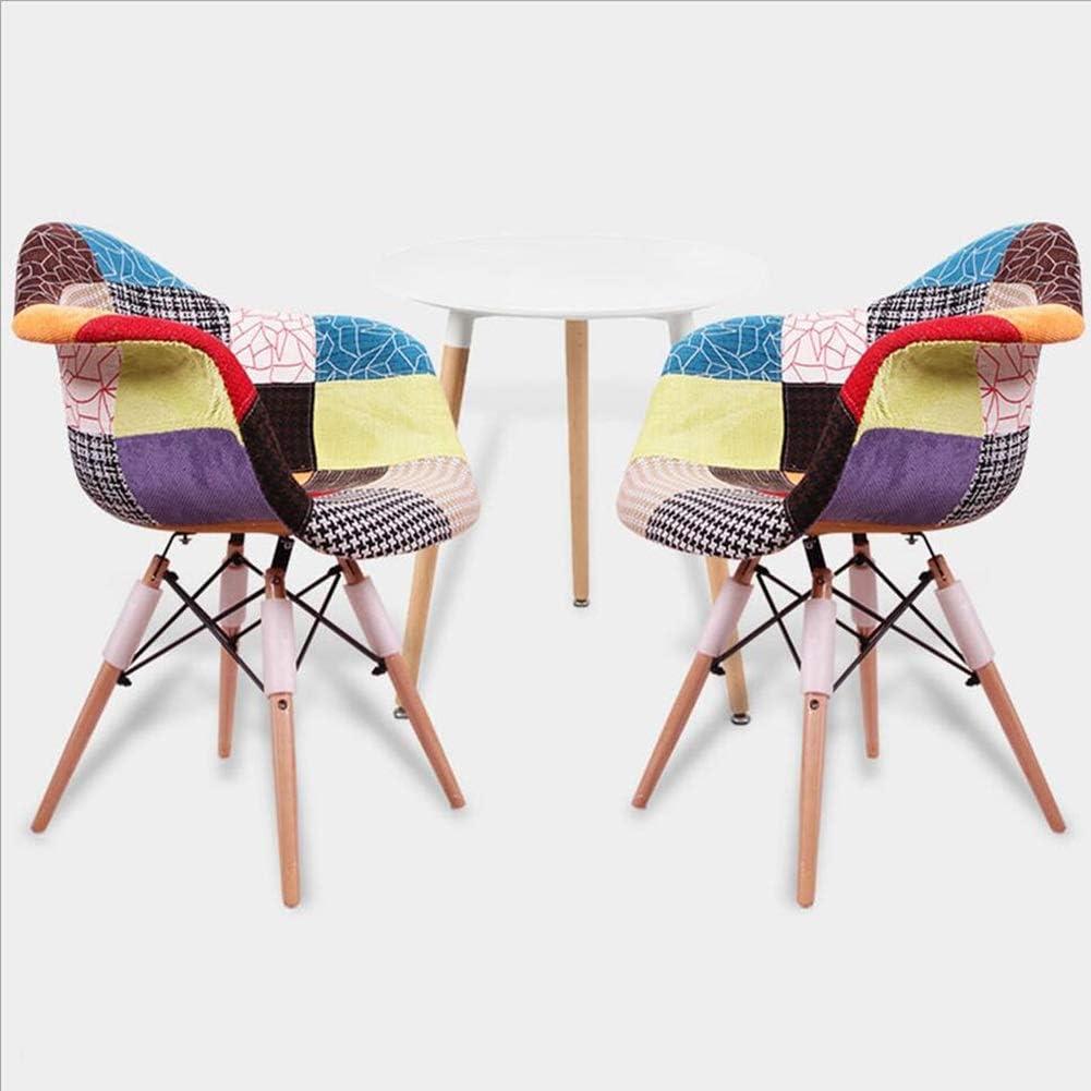 Chaise Fauteuil Siège Chaises Chair Élargir La Main Courante Style D'oiseau Moderne Et Simple Coton De Haute Qualité Dossier en Hêtre FENPING (Couleur : Coloré) Coloré