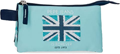 Pepe Jeans Cuore Estuche Tres Compartimentos, Azul, 22 cm