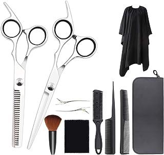 散髪 ヘアカット 髪を切る ハサミ LKE すきバサミ カットシザー ステンレス製 自宅 セルフカット プロ仕様から素人 11点セット