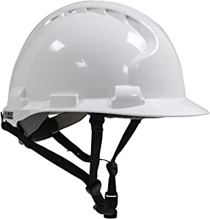MK8 Evolution 280-AHS240-10 Type II Linesman Hard Hat with HDPE Shell, EPS Impact Liner, Polyester Suspension, Wheel Ratchet Adjustment and 4-Point Chin Strap, Large, White