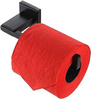JQK Toilet Paper Holder Black, 5 Inch 304 Stainless Steel Tissue Paper Dispenser, Matte Black Wall Mount, TPH200-PB