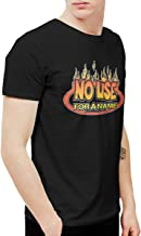 Douglas-A Mens Funny No Use for A Name Logo T-Shirts and Washed Denim Hat Casquette Black