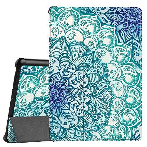 Fintie Hülle Hülle für Huawei MediaPad T5 10 - Ultra Dünn Superleicht Flip Schutzhülle mit Zwei Einstellbarem Standfunktion für Huawei MediaPad T5 10 10.1 Zoll 2018 Tablet PC,Smaragdblau