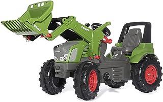 Rolly Toys Trettraktor rollyFarmtrac Premium Fendt Vario 939 mit Frontlader rollyTrac Lader Tretfahrzeug für Kinder ab 3 Jahre, mit Flüsterlaufreifen 710263, grün/grau