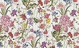 Vilber Flower DU 01 40X78 Alfombra Vinilo. Combinable con Juego de 2 y 4 salvamanteles Vinilo y manteles resinados Tela.