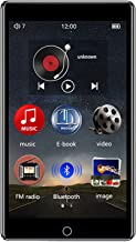 $107 » MP3 Player with Bluetooth FM Radio, 4.0'' Touch Screen 8GB MP4 Video Music Player E-Book, TF Card Up to 128GB,8g