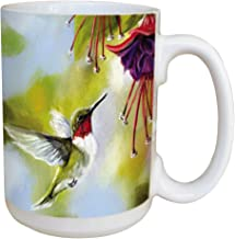 Tree-Free Greetings 45510 Victoria Wilson-Schultz Ruby and Fuchsia Ceramic Mug with Full-Sized Handle, 15-Ounce