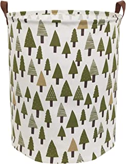 Sanjiaofen Large Storage Bins,Canvas Fabric Laundry Basket Collapsible Storage Baskets..