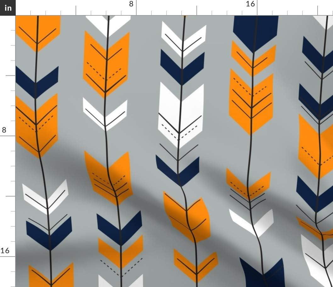 Spoonflower Fabric - Fletching Arrows Navy Arrow Littl Geometric Max 41% OFF Max 76% OFF