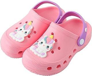 Kiwufoder Boys Girls Clogs Lightweight Kids Beach Pool Toddler Water Shoes