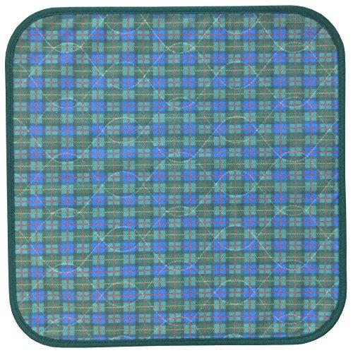 PFLEGE-POINT® Inkontinenz Stuhlauflage 45 x 45 cm (grün-blau)
