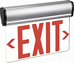 Kaito LED Edge-Lit Exit Sign with Backup Rechargeable Battery and Adjustable Panel, UL Listed