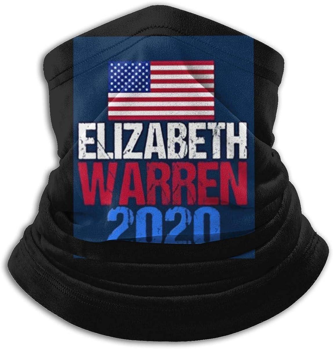 Elizabeth Warren 2020 Black Multi-function Neck Warmer Gaiter Polyester Neck Warmer Windproof Winter Neck Gaiter Cold Weather Scarf For Men Women