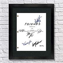 Friends TV Cast Autographed Signed Reprint 8.5x11 Script Framed 13x15 Rachel Green Monica Geller Chandler Bing Joey Tribbi...