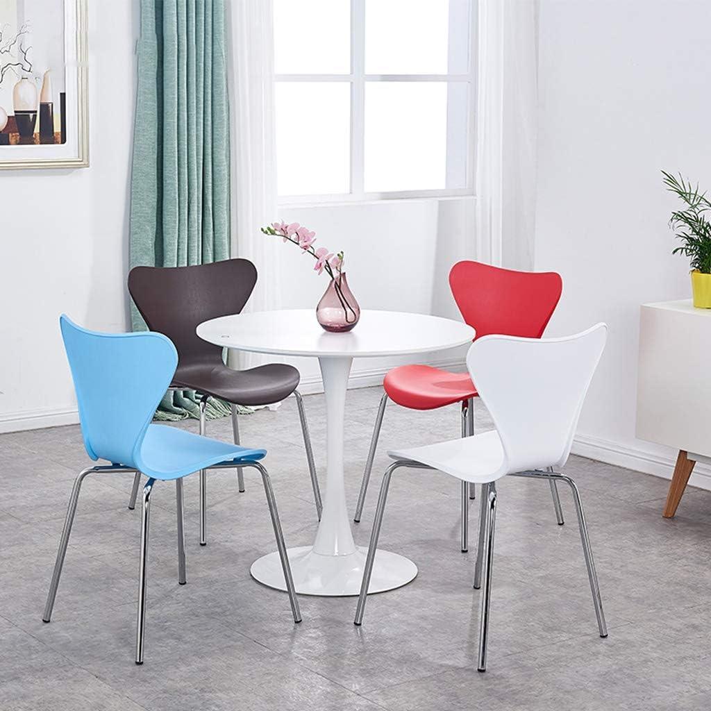 QNN Accueil Moderne Minimaliste Chaise En Fer Forgé Restaurant Mode Chaise Créative Maison Salle À Manger Chaise En Acier Inoxydable Dossier Chaise Chaise,Rouge Bleu