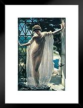 John Reinhard Weguelin Lesbia 1878 Neo Classical Painting Art Poster - 12x18 Art Print Framed Matted in Black Wood 20x26 i...