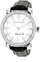 Luxurman Men's VS Diamond Watch 4ct White MOP