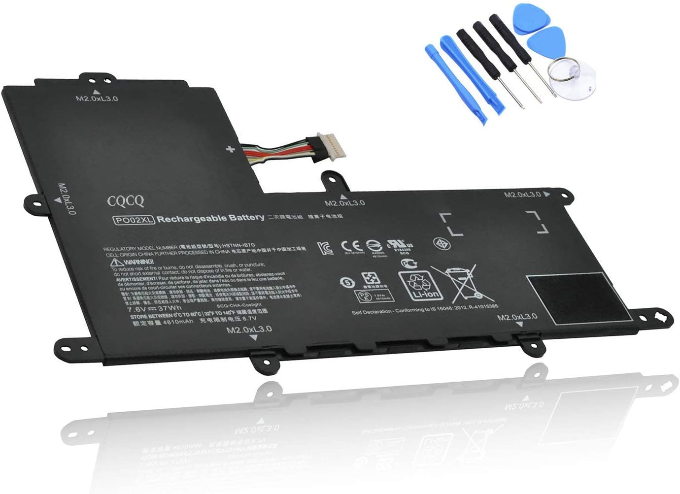CQCQ PO02XL Compatible Battery Replacement for HP Stream 11-R 11-R010NR 11-R014WM Series HSTNN-DB7G HSTNN-IB7G TPN-Q166 [7.6V 37Wh]