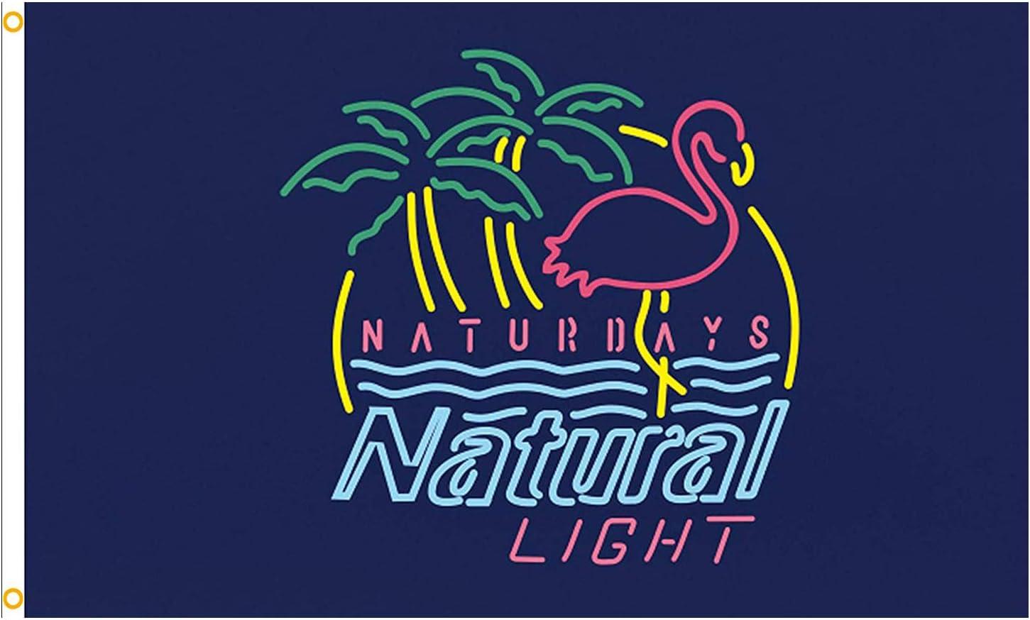 Naturdays Finally popular brand Flag Natural Light Banner Wall Man Manufacturer direct delivery Cave Beer