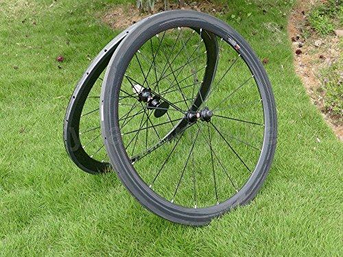 Full Carbon 3K Matt Rennrad Tubular Felge 50mm Basalt Bremse Seite Breite 27mm Toray Carbon Laufradsatz für Campagnolo