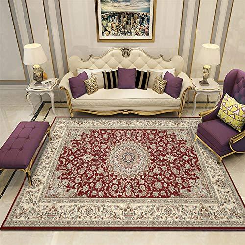 Alfombras alfombras para Habitaciones Juveniles Fácil Limpieza Gris Rojo Amarillo diseño Floral Alfombra Antideslizante Alfombra Comedor alfombras de Pasillo 180X250CM