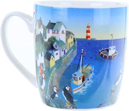 Preisvergleich für Tasse Becher Kaffee Tee Hafen Papageientaucher by Jan Pashley