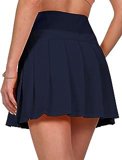Fancyskin Women's Pleated Tennis Skort Mini Athletic Skirts with Ball Pockets for Training Golf