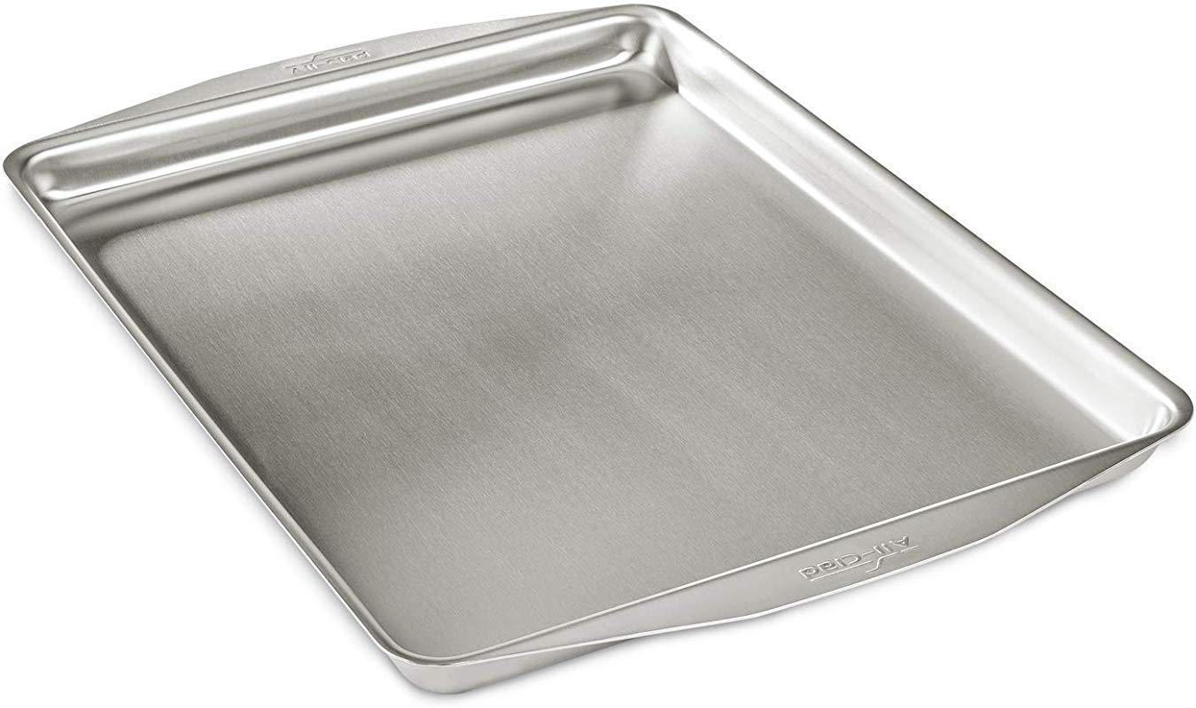 All Clad 9005 9000 D3 Ovenware 12x15 Inch Jelly Roll Stainless Steel 12 By 15 Inch