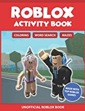 Roblox Activity Book: Coloring, Word search & Mazes: Made with Top Roblox Games (Unofficial Roblox Book)