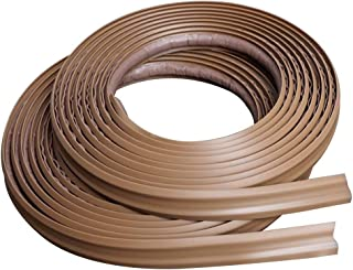 InstaTrim IT05LBR InstaTrim-1/2 inch wide Flexible, Self-adhesive, Caulk and Trim Strips for Floors, Ceilings, Countertops and More and More, 1/2 X 10 ft Long, 2 pk, Light Brown, 2 Pack