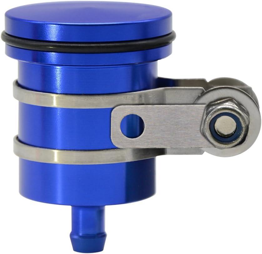 Aluminium Motorrad Bremse Tank Behälter Ölzylinder Bremsflüssigkeitsbehälter Mit Behälterhalter Für Yamaha Mt01 Mt03 Mt07 Mt09 Mt10 S1000rr S1000r S1000xr Hp4 Blau Auto