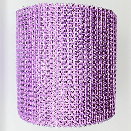 10 Yards 4.6' Lavender Diamond Mesh Wrap Roll Sparkle Rhinestone Crystal Wedding Ribbon Good Crafted DIY Ideas