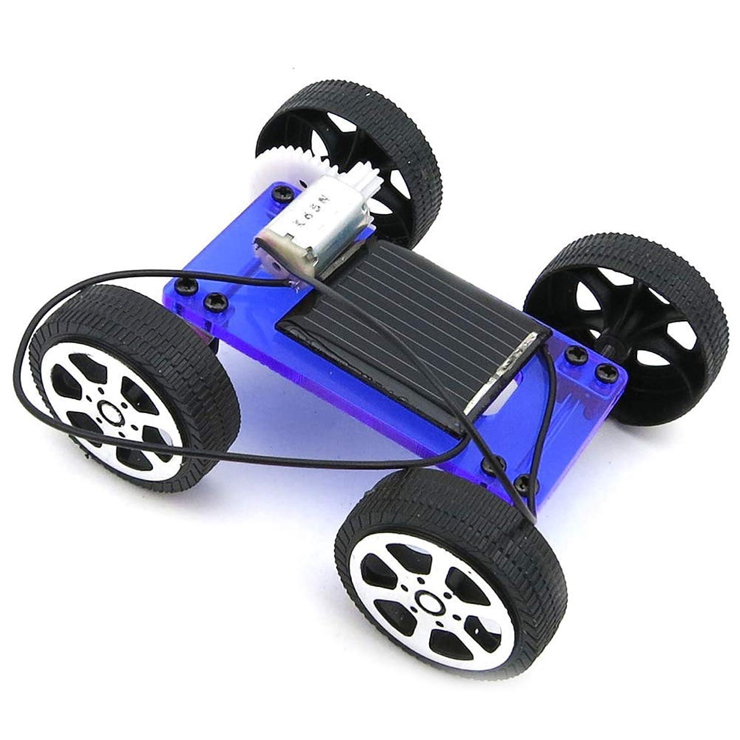 暴君黒板アンケートMen club ミニDIYアセンブリソーラーパネルエネルギー車車両モデル子供教育玩具ブルークリエイティブで便利