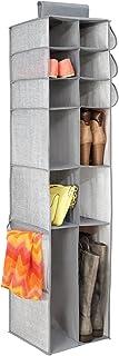 mDesign étagère suspendue en tissu avec 16 compartiments pour le rangement – rangement suspendu parfait pour tout type d'a...